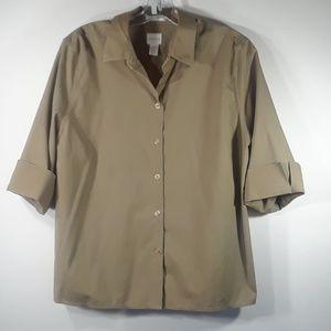 Chico's no-iron button-down shirt XLp